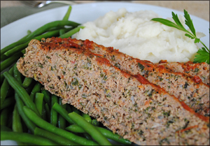 Meatloaf and Skinny Mashed Cauliflower