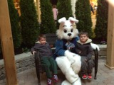 Ryan and Sean visit with the Easter Bunny at Summit Mall.