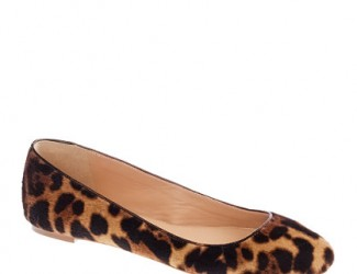 JCrew COLLECTION NORA CALF HAIR BALLET FLATS