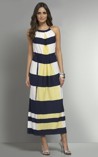 New York & Company - Striped Maxi Dress $69.95 plus 40% Off Today - PROMO 3664