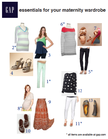 Maternity Essentials from Gap.com + a few other faves