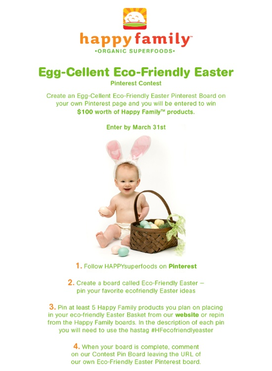 Happy Family Eco-Friendy Easter Pinterest Contest #HFecofriendlyeaster