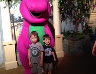 The boys with Barney