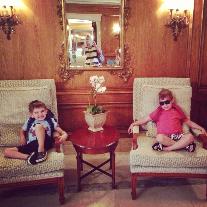 Sean and Ryan hanging out in the lobby