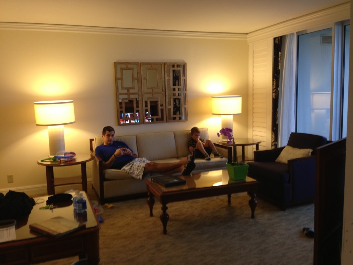 Hanging out in the room