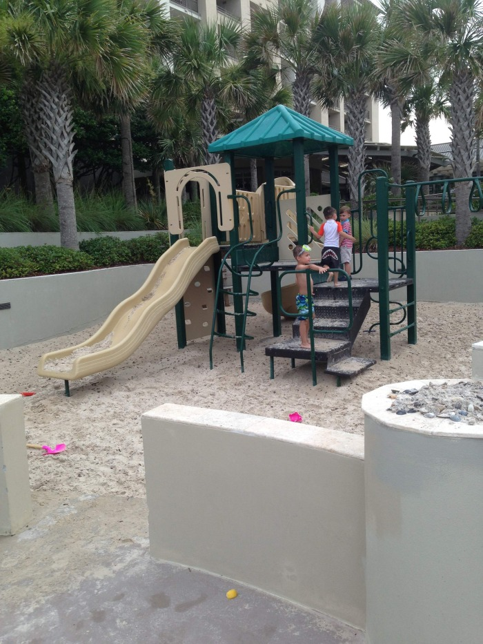 The playground near the pool