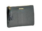 Python Leather Clutch for Fall GiGi New York