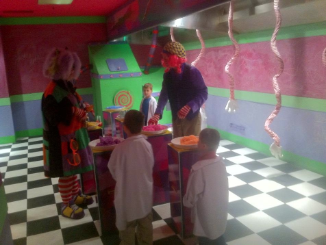 The Boys last year at Kringle's Inventionasium at Tower City