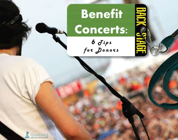 Charitable Concerts: Where Does Your Money Go?