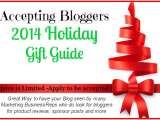 Bloggers 2014 Holiday Gift Guide Sign Up