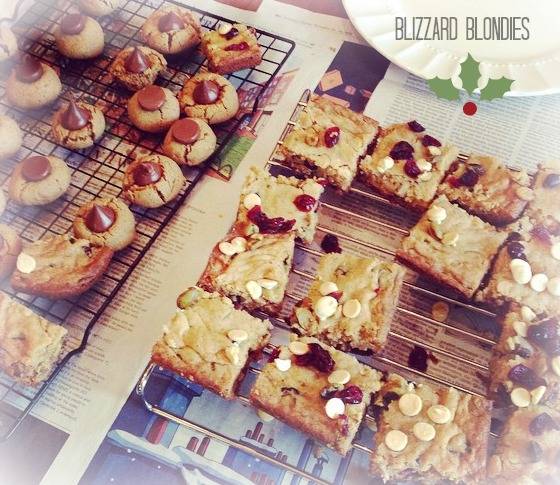 Blizzard Blondies - My Favorite Christmas Cookies!