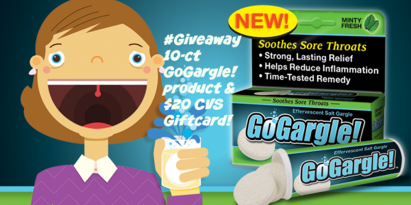 Feeling Sick? Try #GoGargle! Product and $20 CVS Giftcard! #GIVEAWAY!