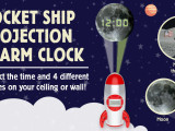 Rocket Ship Projection Alarm Clock: Coupon Code, Kickstarter Project and #Giveaway